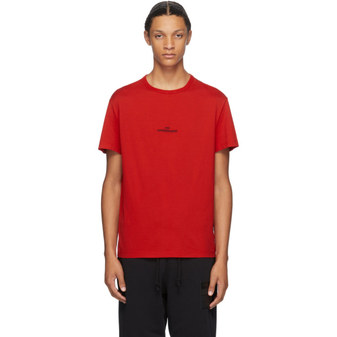 Maison Margiela Embroidered Logo T-shirt In 314 Red