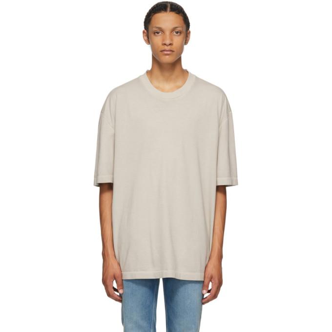 Maison Margiela Short Sleeve Cotton T-shirt In 801 Pearl