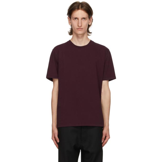 Maison Margiela Garment-dyed Cotton-jersey T-shirt In 227 Bordeau