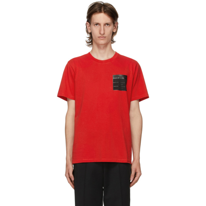 Maison Margiela T-shirt In Red Cotton In 314 Red