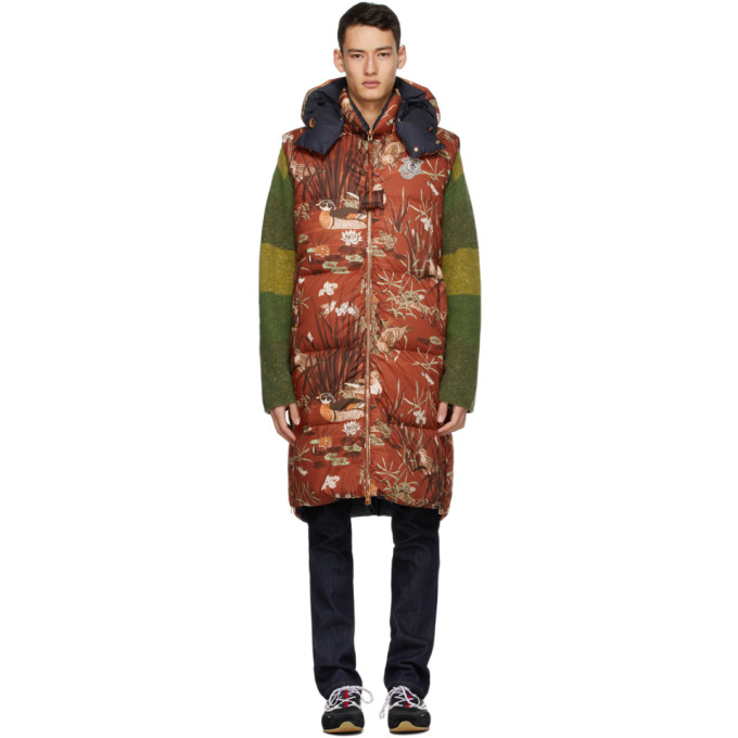 Moncler Genius Moncler X Jw Anderson Graphic Patterned Hooded Vest In 450redquack