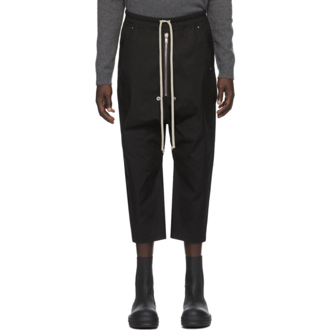 Rick Owens Pantaloni Bela Cropped In 09 Black