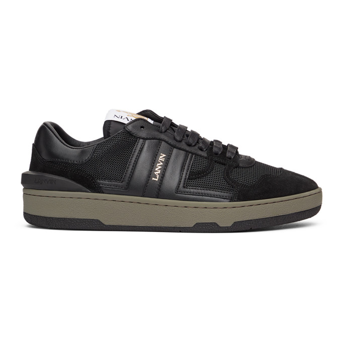 Lanvin LANVIN BLACK LEATHER CLAY LOW SNEAKERS