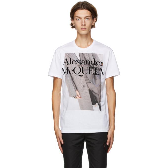 Alexander Mcqueen ALEXANDER MCQUEEN WHITE ATELIER PRINT T-SHIRT