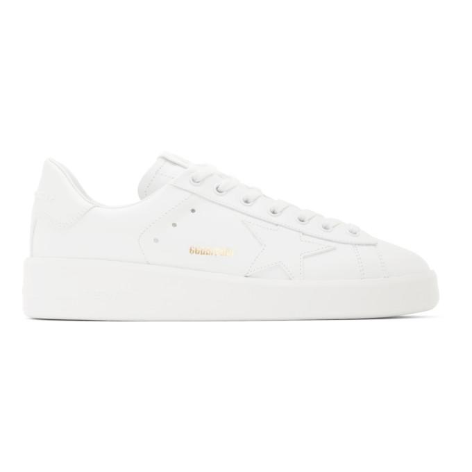 Golden Goose Star Patch Low Top Sneakers In 10100 Optic