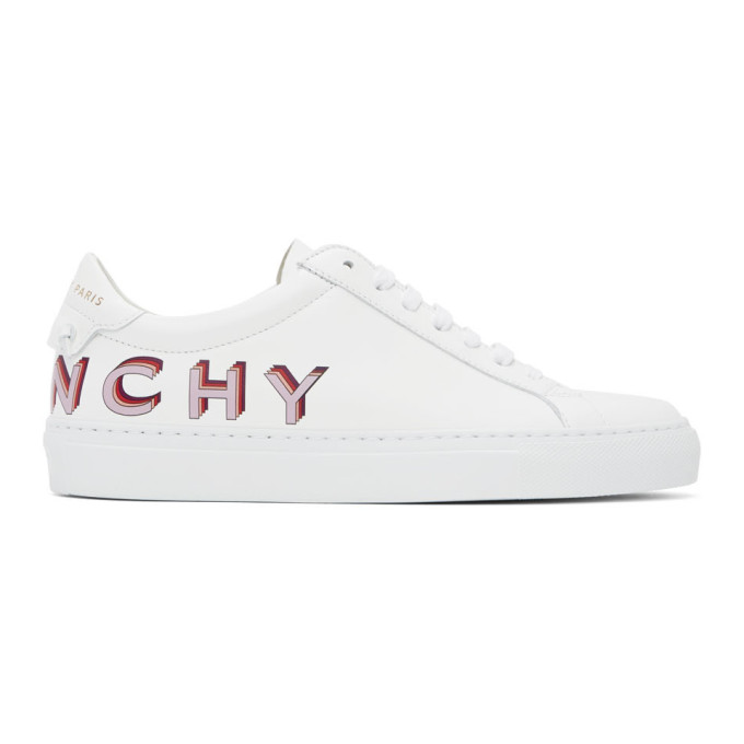 Givenchy Urban Street Sneakers In White Leather In 599 Wh/lila