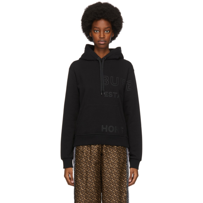 Burberry Cotton Hoodie In Black