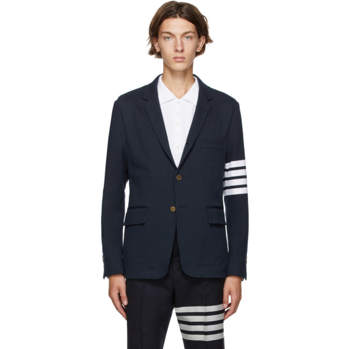 Thom Browne Unconstructed Classic Blazer Navy In 415 Navy