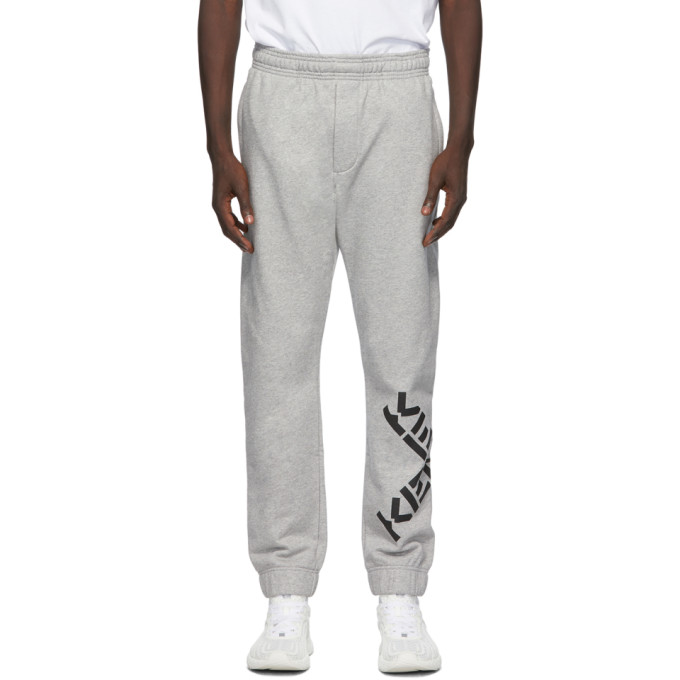 Kenzo Sport Big X Tracksuit Bottoms In Grey In 94 Pearl Gr