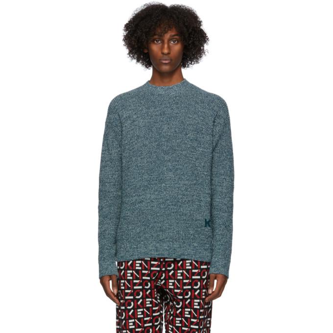 Kenzo Oversize Crewneck Sweater In 73 Duck Blu