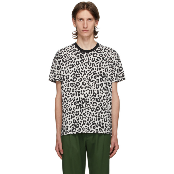 Kenzo Leopard-print Short-sleeve T-shirt In 3 Ecru