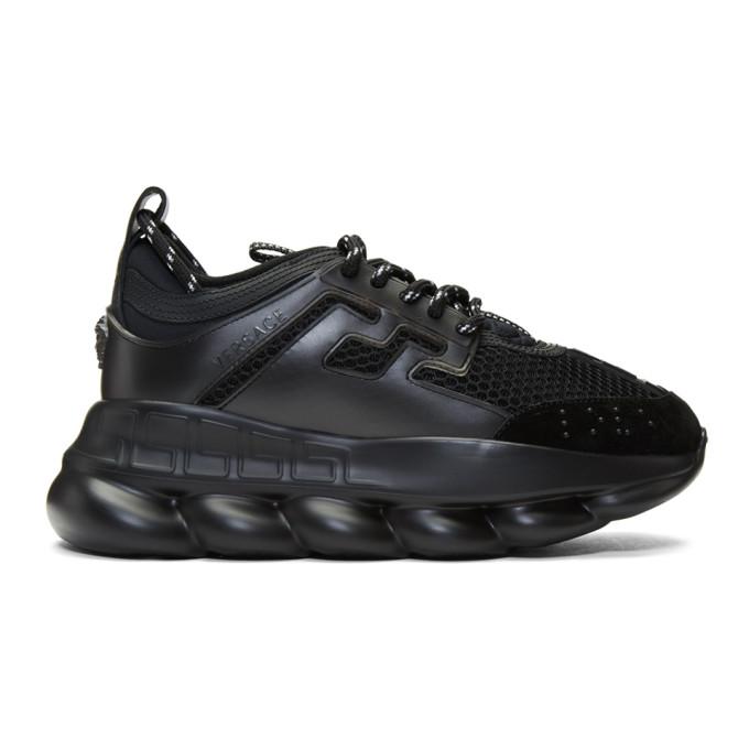 Versace Chain Reaction Sneakers In D41 Black