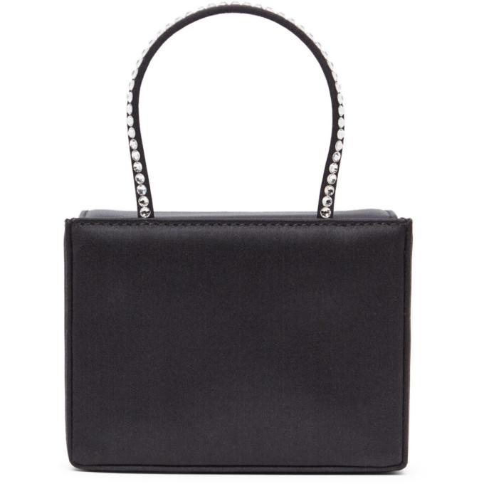 Amina Muaddi Mini Embellished Leather Gilda Top-handle Bag In Black