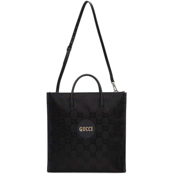 GUCCI BLACK OFF THE GRID LONG GG ECO TOTE