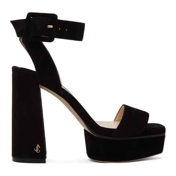 Jimmy Choo Jax 115mm Platform Sandals In Black Suede