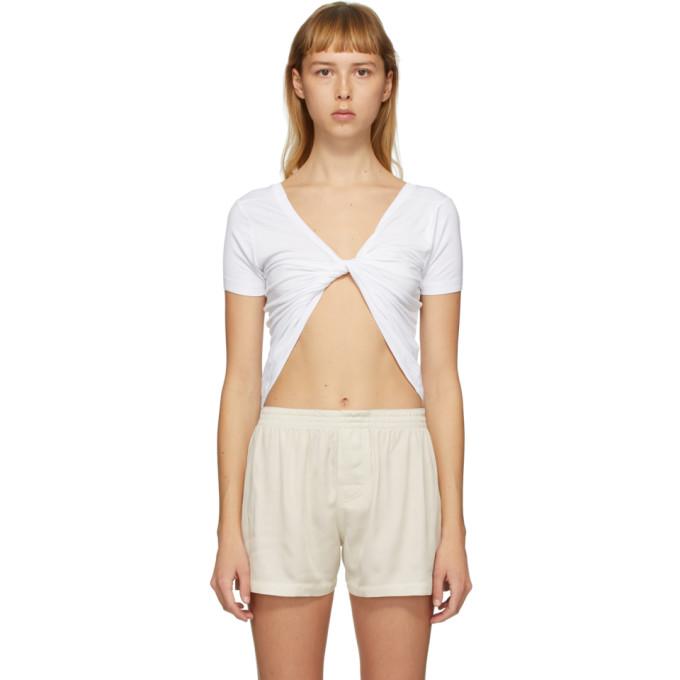 Jacquemus Le T-shirt Sprezze White Cotton Top In Optic White