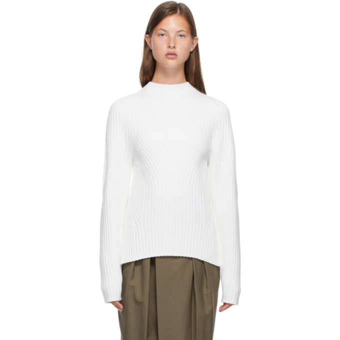 Low Classic LOW CLASSIC OFF-WHITE WHOLE GARMENT SHORT MOCK NECK