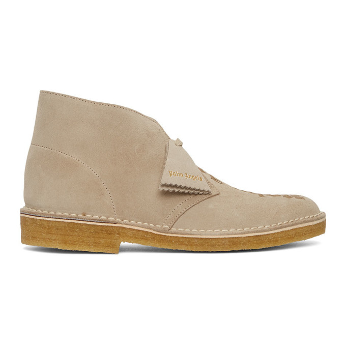 Palm Angels X Clarks Pa Desert Boots Pmia050e20lea001 In Sand