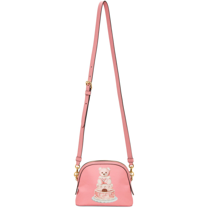 Moschino Women's Cross-body Messenger Shoulder Bag  Cake Teddy Bear In A1207 Pink