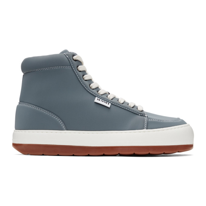 Sunnei High Top Sneakers In Grey Neo