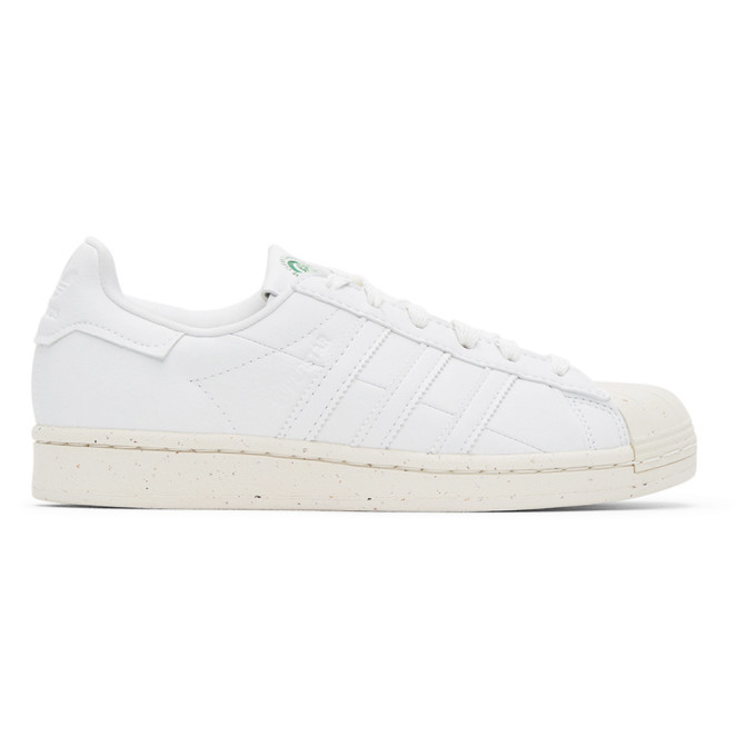Adidas Originals White Monochromatic Superstar Sneakers