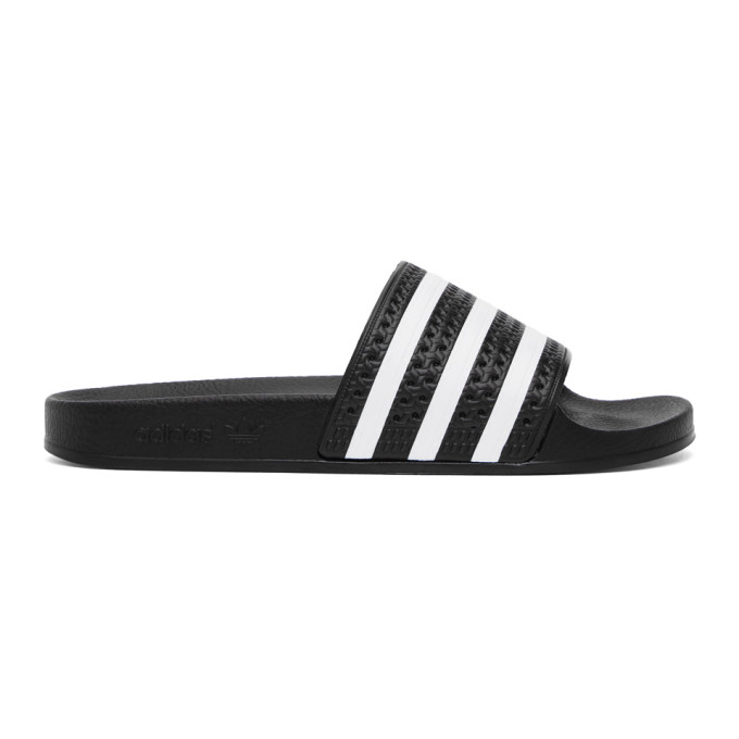 Adidas Originals Black & White Adilette Sandals