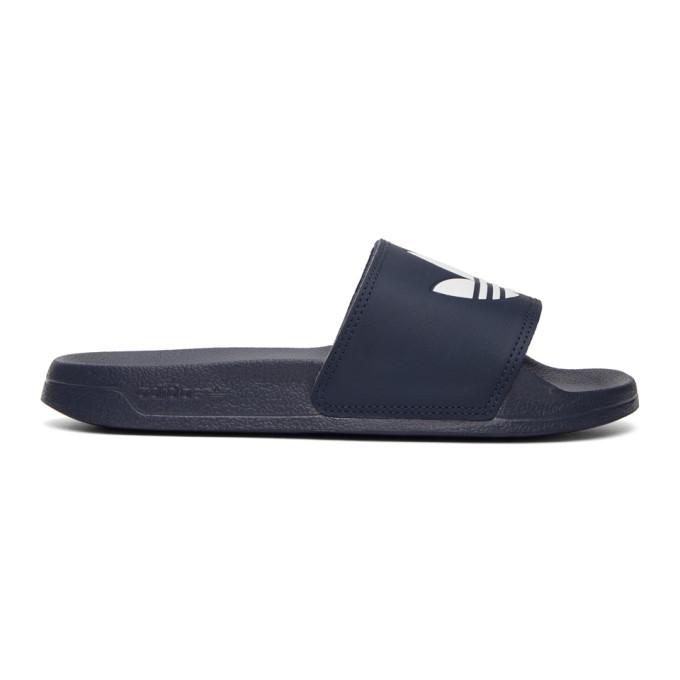Adidas Originals Adidas Men's Originals Adilette Lite Slide Sandals In Nvy/wht