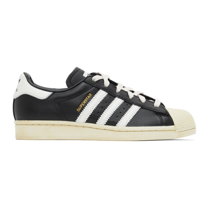 Adidas Originals Superstar Sneakers In Black And White In Blk/cry