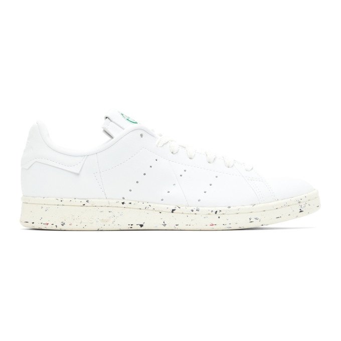 Adidas Originals Clean Classics Sustainable Stan Smith Sneakers In White In Wht/grn