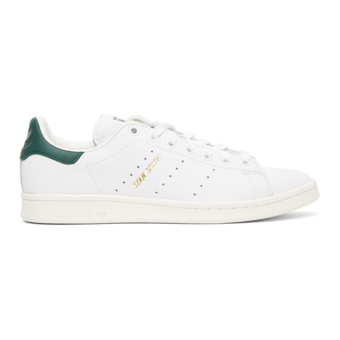 Adidas Originals Stan Smith Sneakers In White Leather In Wht/grn