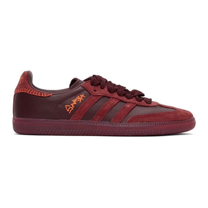 Adidas Originals Men's Adidas X Jonah Hill Samba Low-top Sneakers In Noble Maroo