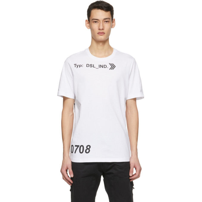 Diesel T-just-a42 T-shirt In White In 100 White