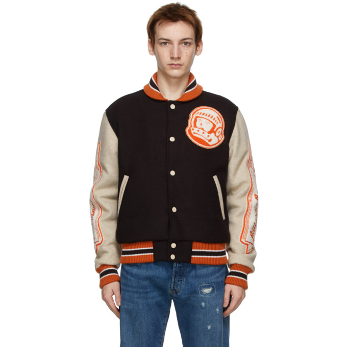 Billionaire Boys Club Astro Appliquéd Embroidered Felt Bomber Jacket In Brown