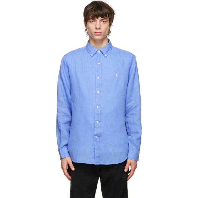 Polo Ralph Lauren POLO RALPH LAUREN BLUE LINEN CLASSIC FIT SHIRT