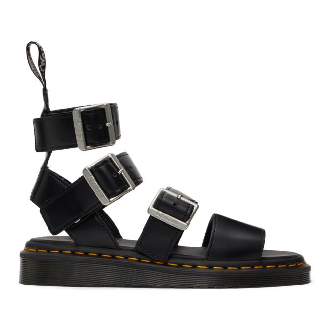 Rick Owens Black Dr. Martens Edition Gryphon High Sandals