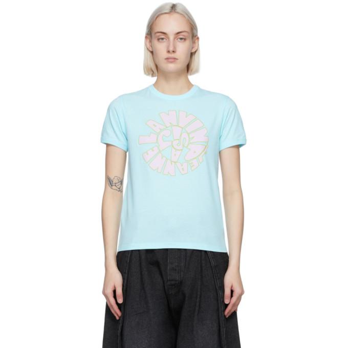 Lanvin LANVIN BLUE 70S LOGO T-SHIRT