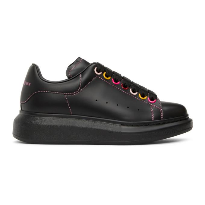 Alexander Mcqueen Black Oversized Sneakers In 1312 Black