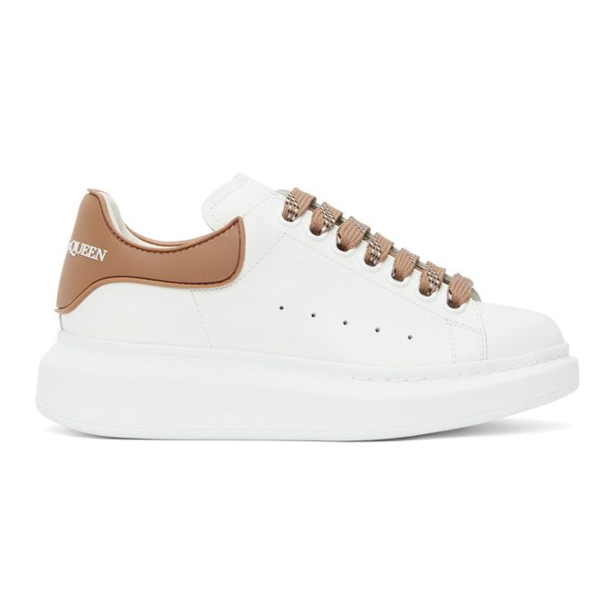 Alexander Mcqueen White And Beige Tpu Oversized Sneakers In 9252 Copper