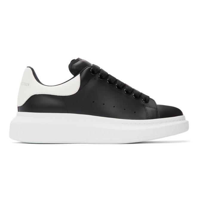 Alexander Mcqueen Oversized Leather Sneakers In Black