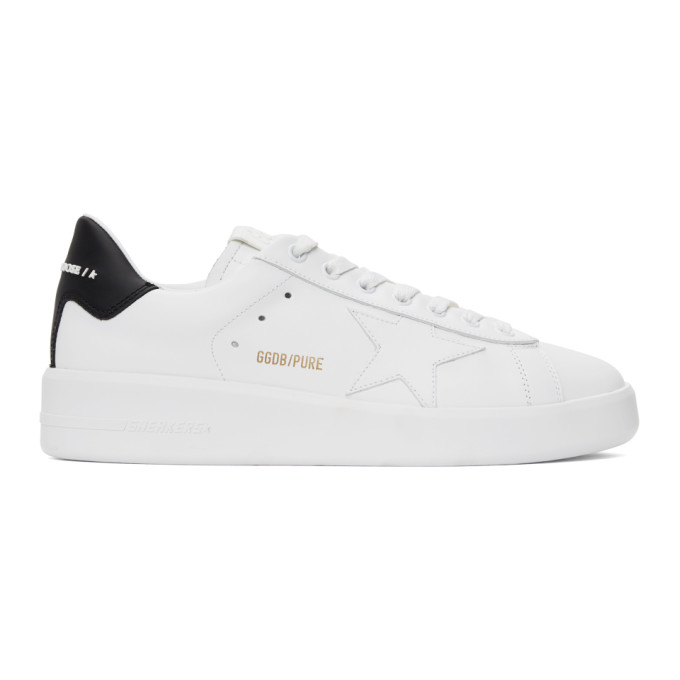 Golden Goose White & Black Pure Star Sneakers In White/black
