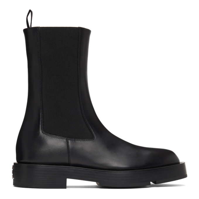 Givenchy Calfskin Pull-on Chelsea Booties In Black