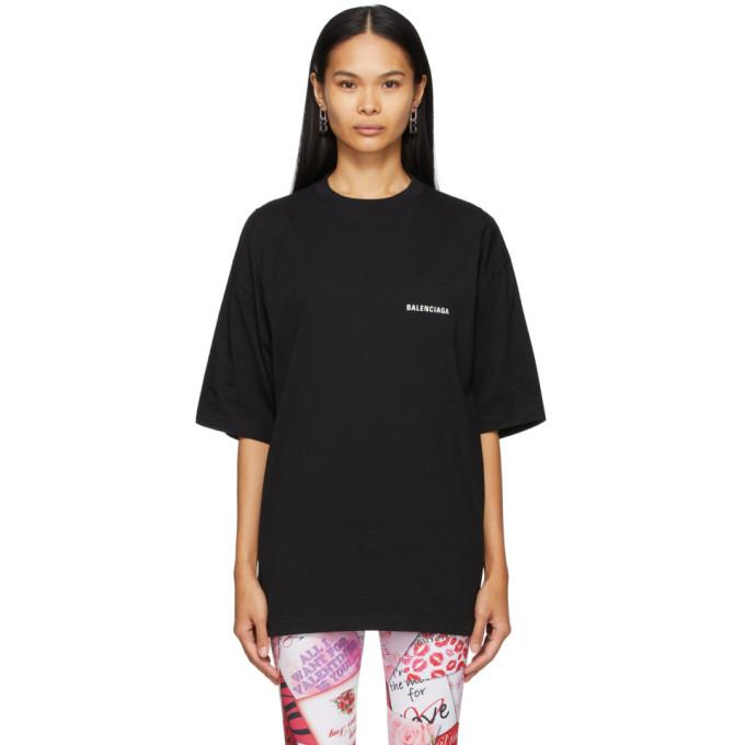 Balenciaga Oversized T-shirt With Defile' Logo In Black