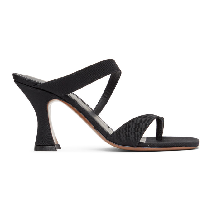 Neous NEOUS BLACK SIKA 80 HEELED SANDALS