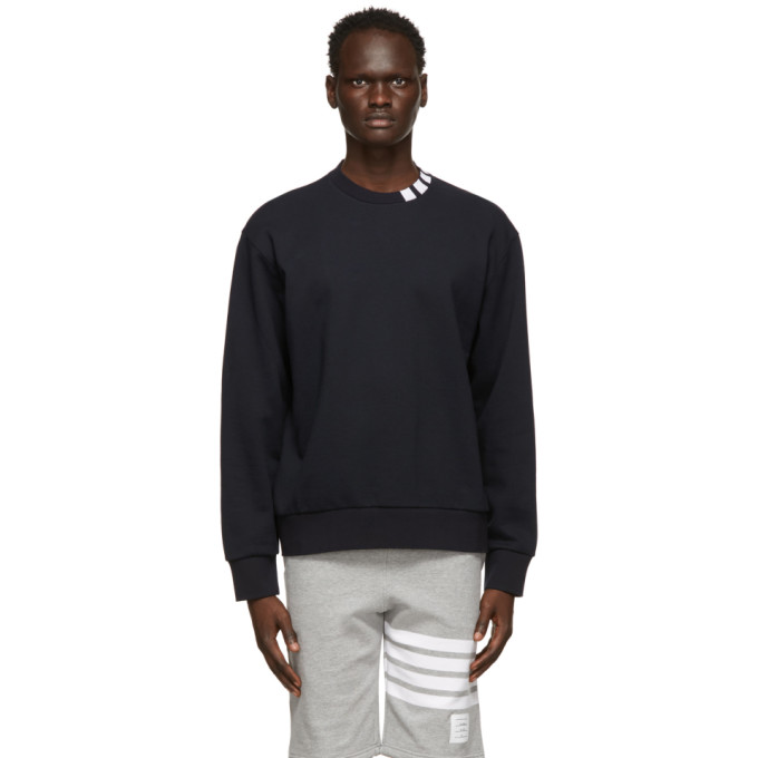 Thom Browne THOM BROWNE NAVY LOOPBACK 4-BAR SWEATSHIRT