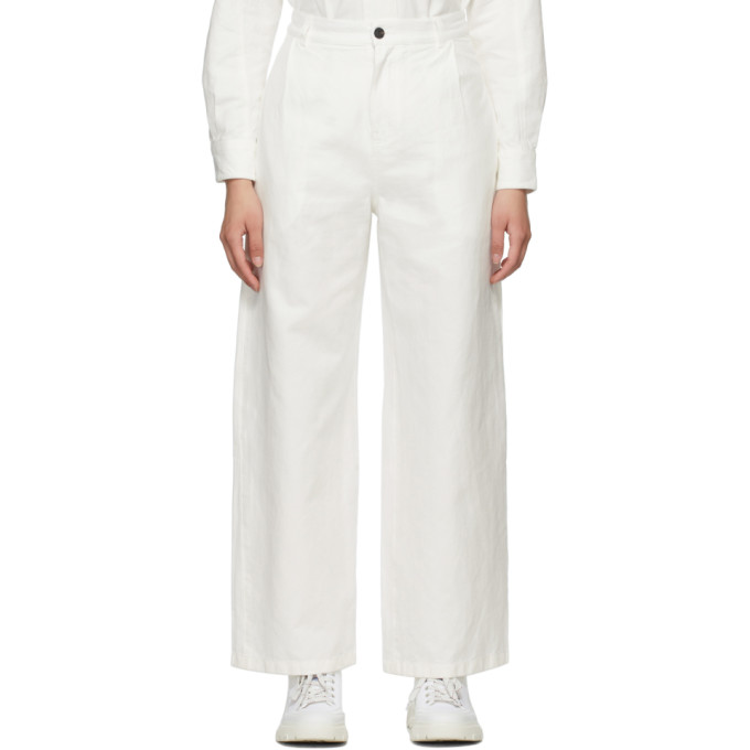 Mcq By Alexander Mcqueen Off-white Chino Jeans In Notebook White