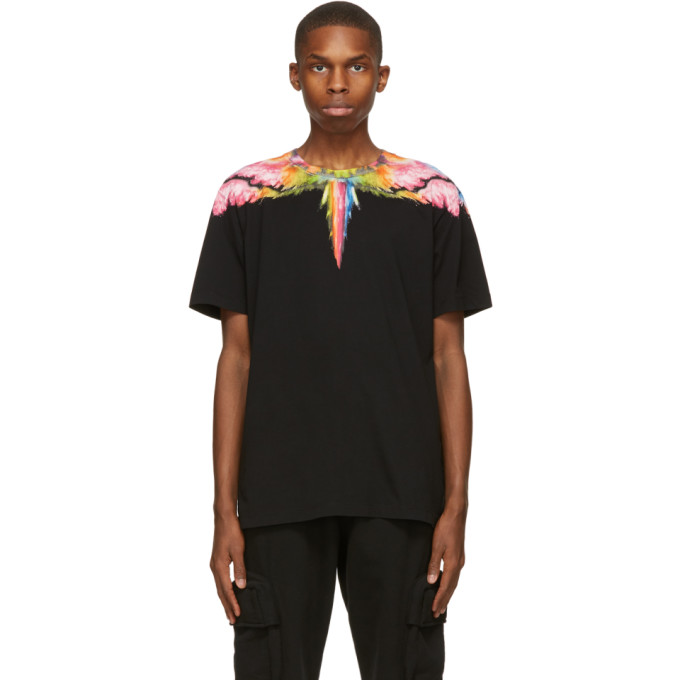 Marcelo Burlon County Of Milan Colordust Wings T-shirt In Black