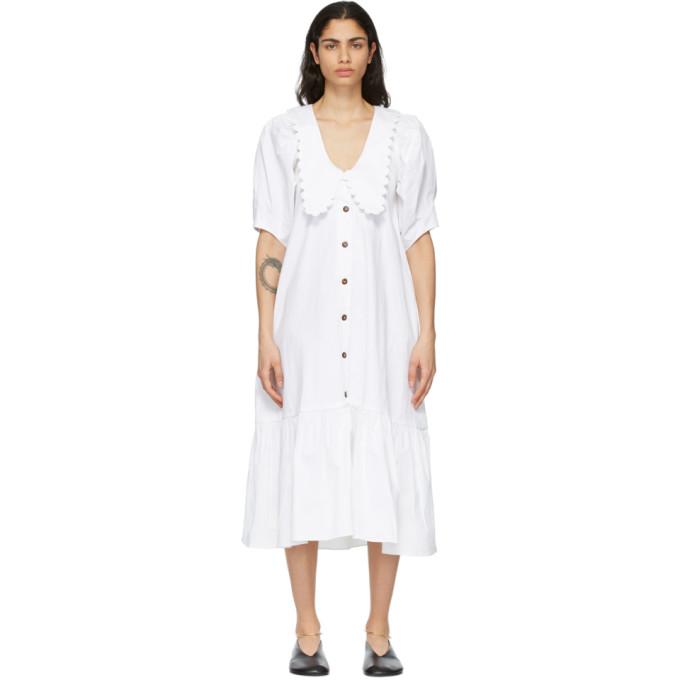 Kika Vargas KIKA VARGAS WHITE CONSUELO DRESS