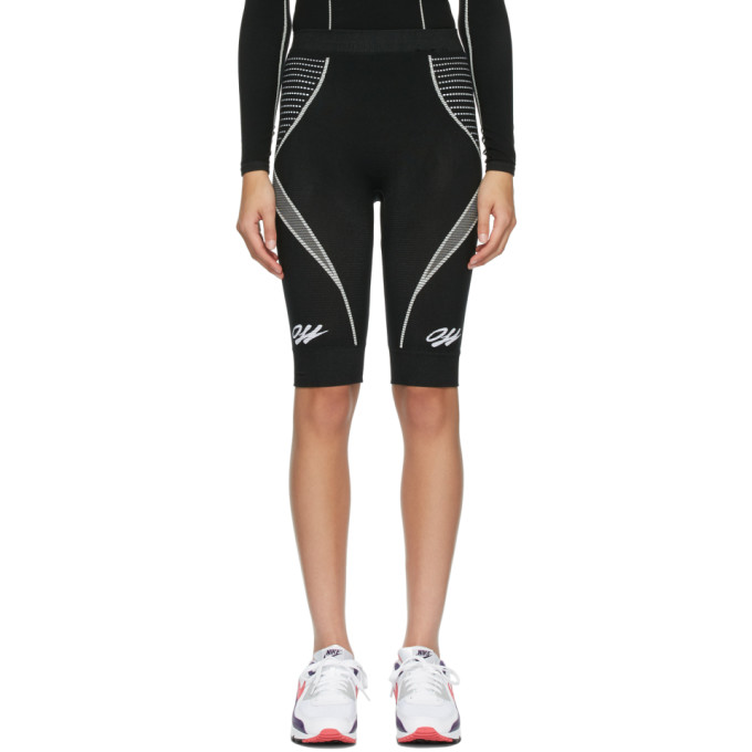 Off-white Women's Athleisure Seamless Cycle Shorts In Black