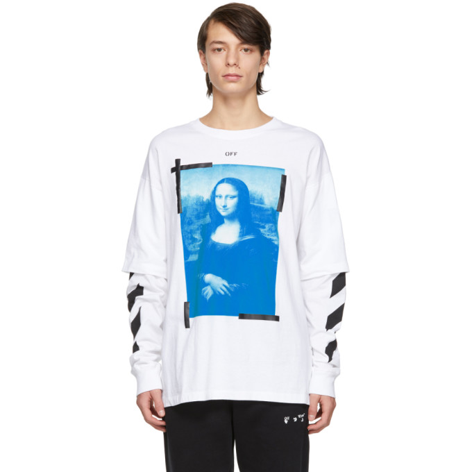 Off-white Mona Lisa Double Sleeve T-shirt In White