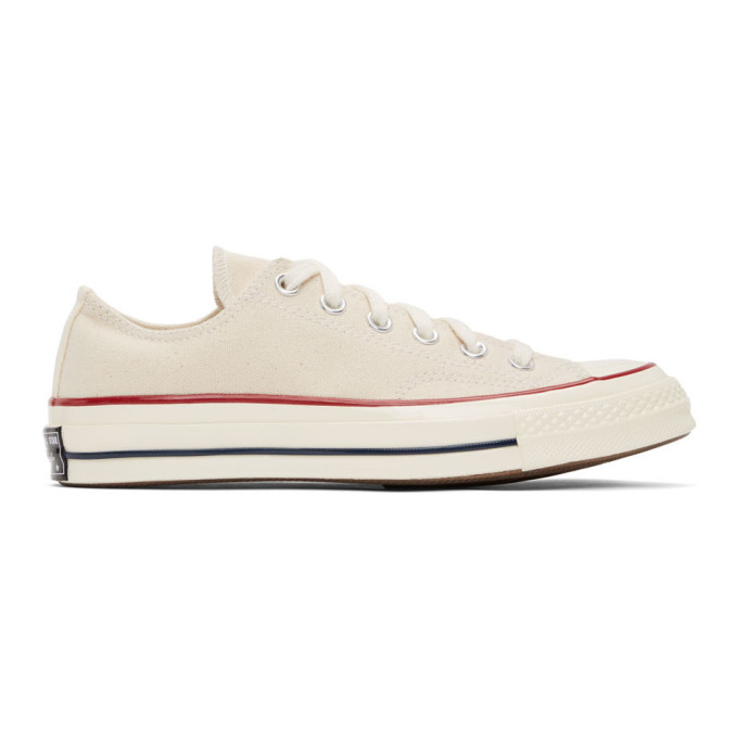Converse Chuck 70 Ox Canvas Sneakers In Parchment-white